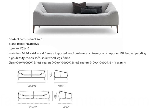 Linen Sectional Sofa Set